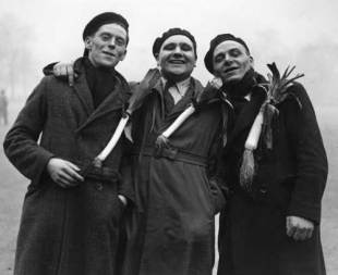 Wales supporters en route to London for a clash with England, January 19, 1935