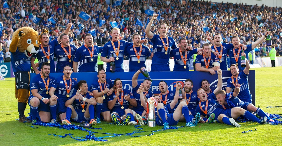 Leinster celebrate their PRO12 victory