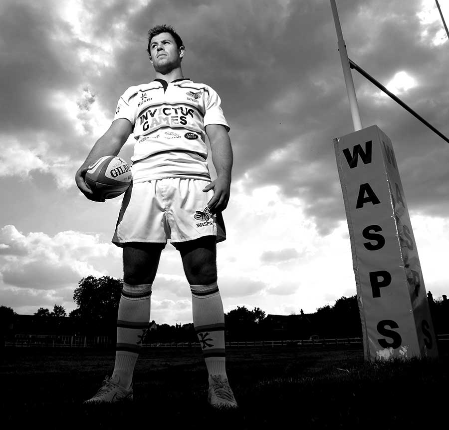 Wasps' new signing Rob Miller poses ahead of the new season