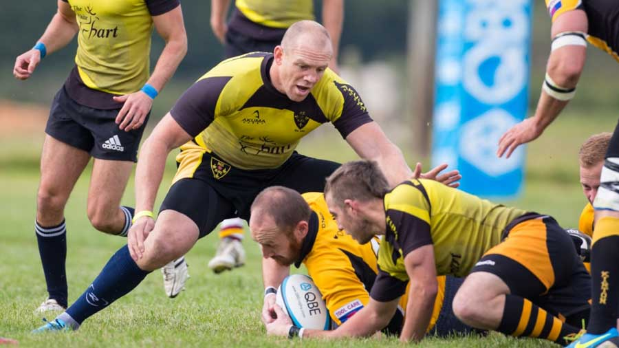 Mike Tindall in action for North Tawton