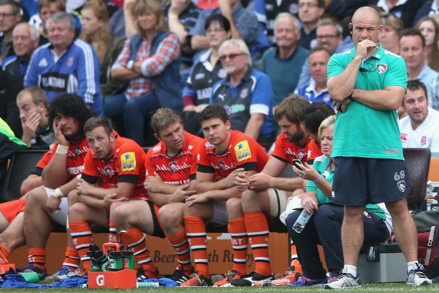Richard Cockerill looks on as Leicester ship 45 points against Bath