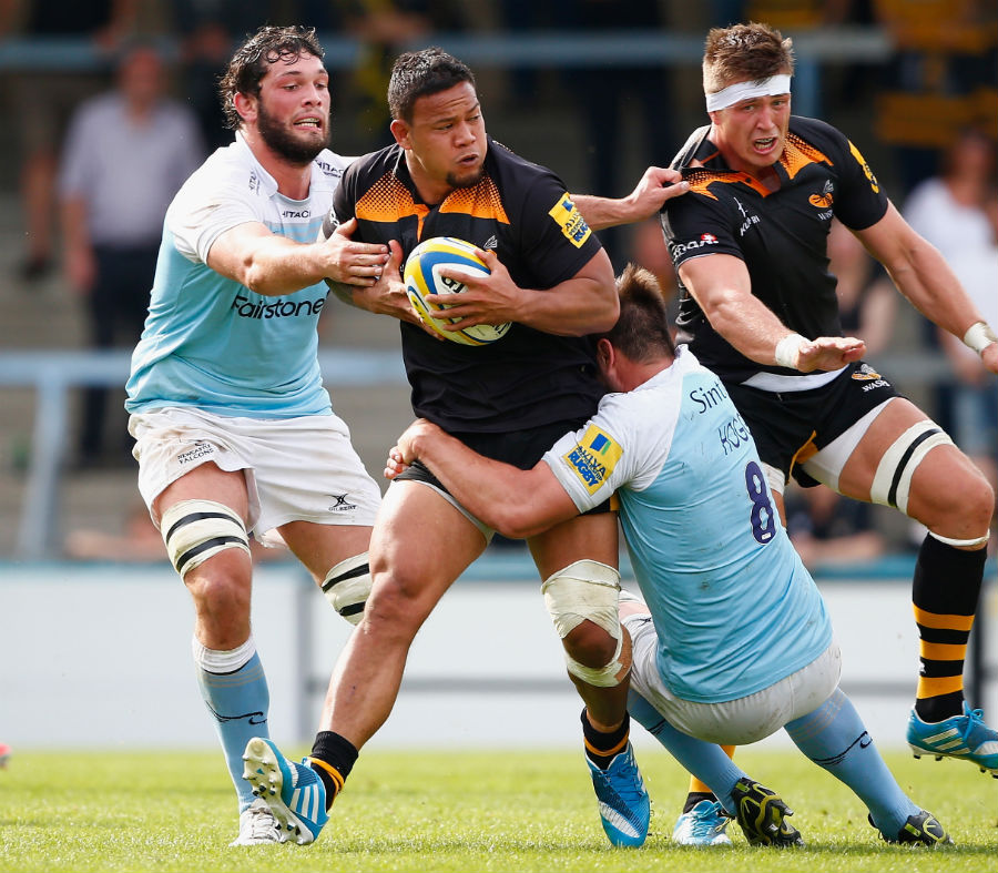 Wasps' Alapati Leiua finds himself at the centre of attention