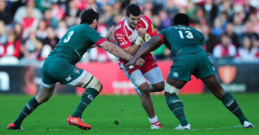Gloucester's Jonny May carries forward