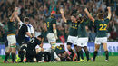 South Africa celebrate their win over New Zealand