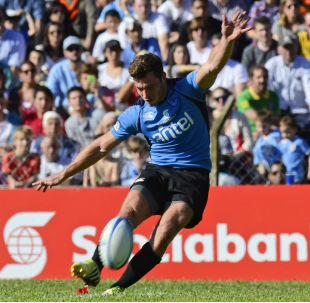 Outside half Felipe Berchesi scored 21 points as Uruguay qualified for the 2015 Rugby World Cup, Uruguay v Russia, World Cup qualifier, Charrua Stadium, Montevideo October 11, 2014