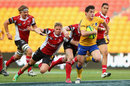 Jack Mullins of Brisbane City makes a break