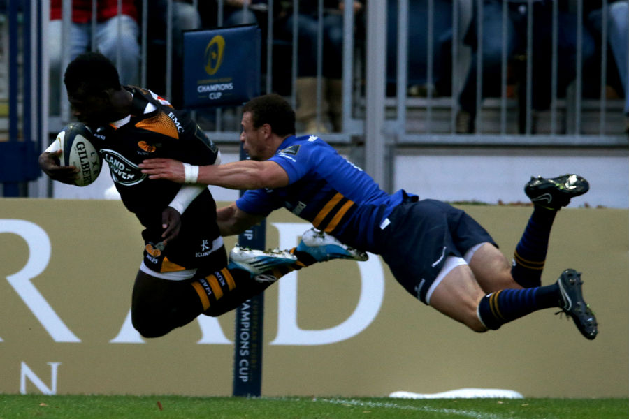 Christian Wade goes over for Wasps' second try