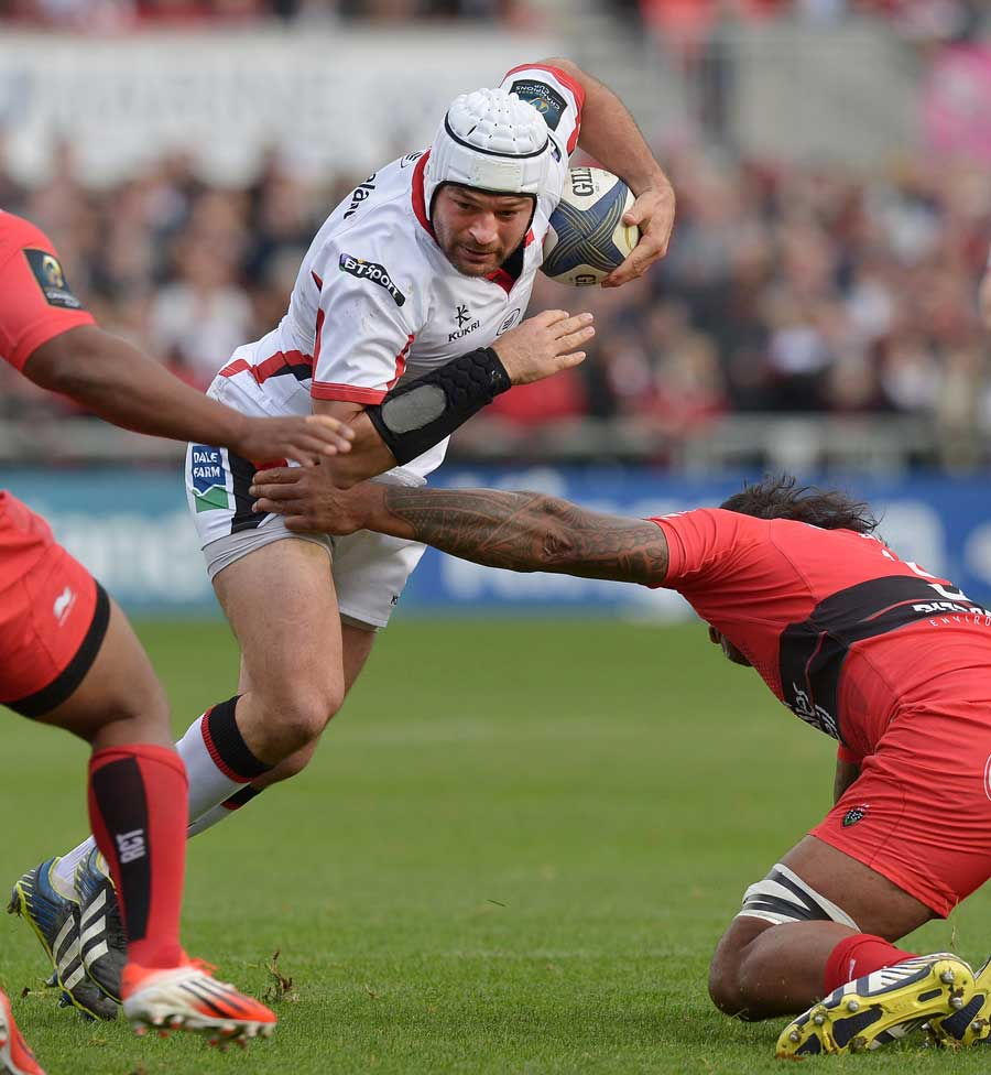 Ulster's Rory Best tries to break through the Toulon defence