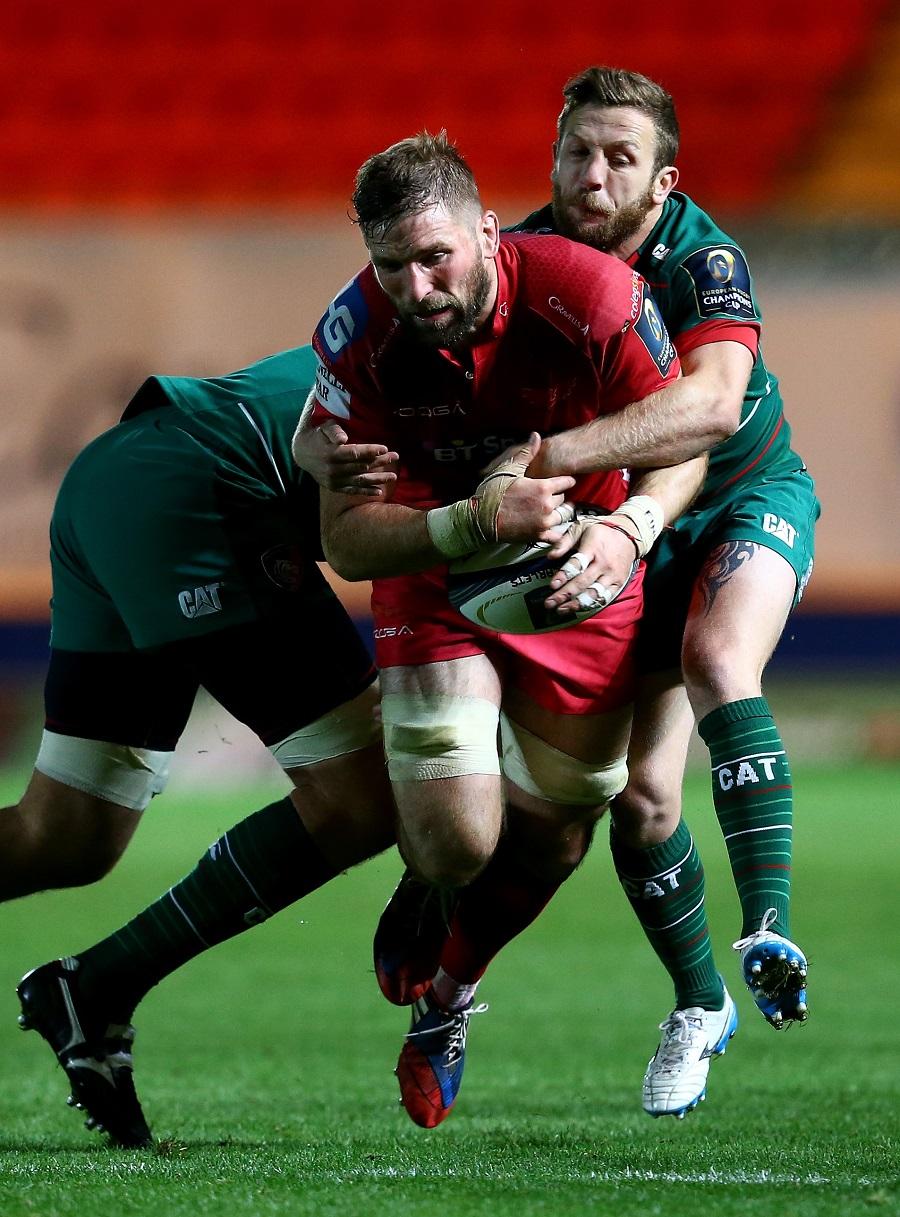 John Barclay crashes through the tackle of David Mele