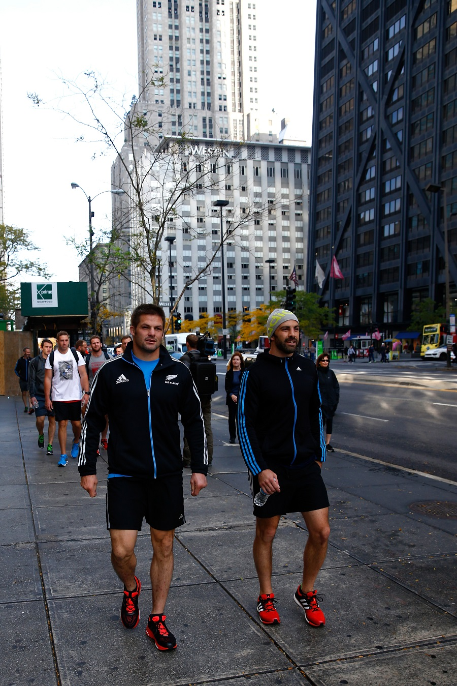 Richie McCaw and Conrad Smith take in the sights of Chicago