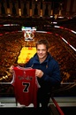 Richie McCaw takes in a Chicago Bulls game