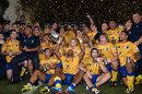 Brisbane City players celebrate victory