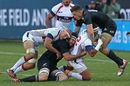 Folau Niua is tackled