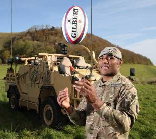 Lance Corporal Semesa Rokoduguni of the Royal Scots Dragoon Guards on the week where he will make his Test debut, Warminster, October 31, 2014