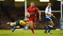 Rhys Webb breaks through to give Wales a third-minute lead
