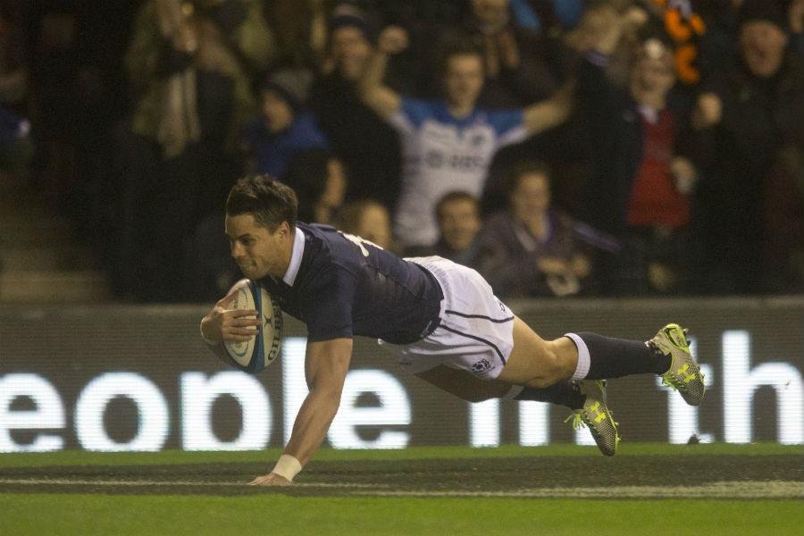 Sean Maitland scores Scotland's third try