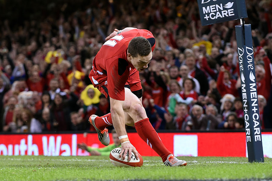 George North touches down for the opening try against Fiji, Wales v Fiji, Autumn internationals, Millennium Stadium, November 15, 2014
