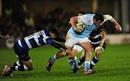 Scott Wilson is tackled by Matt Banahan