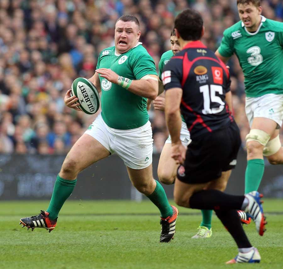 Ireland's Dave Kilcoyne takes the game to Georgia