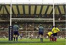 England fly-half Charlie Hodgson converts a kick (thumb size)