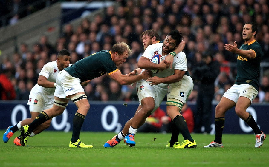 Billy Vunipola charges forward for England