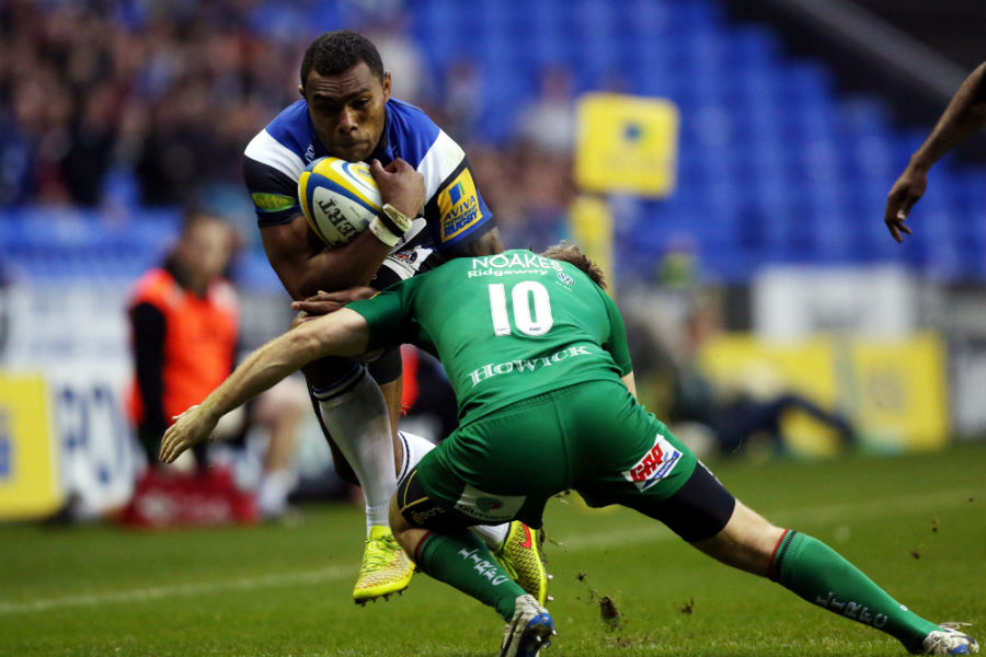 Semesa Rokoduguni dives inside a challenge