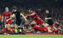 Beauden Barrett leaves Jamie Roberts and Leigh Halfpenny grasping thin air