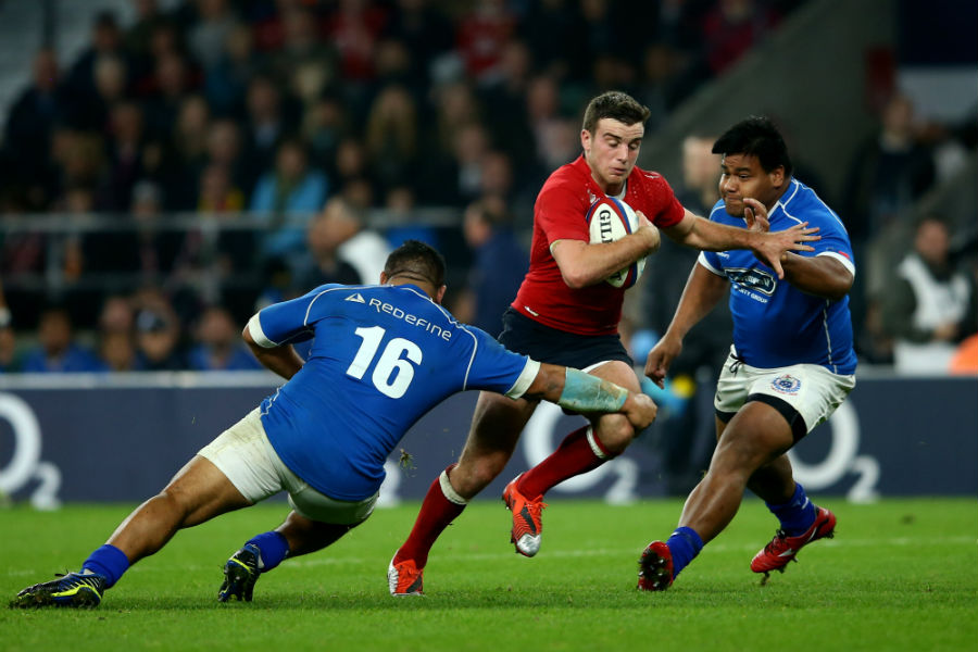 George Ford attempts to break through