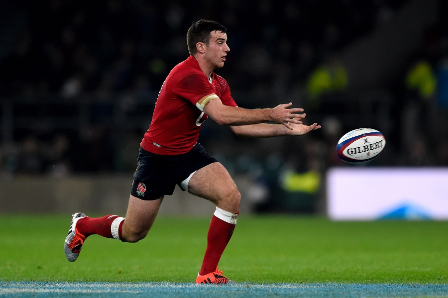George Ford makes a pass