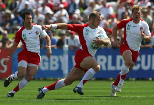 England's Ollie Phillips injects some pace into an attack