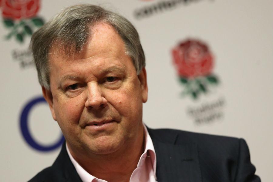 RFU chief executive Ian Ritchie faces the press