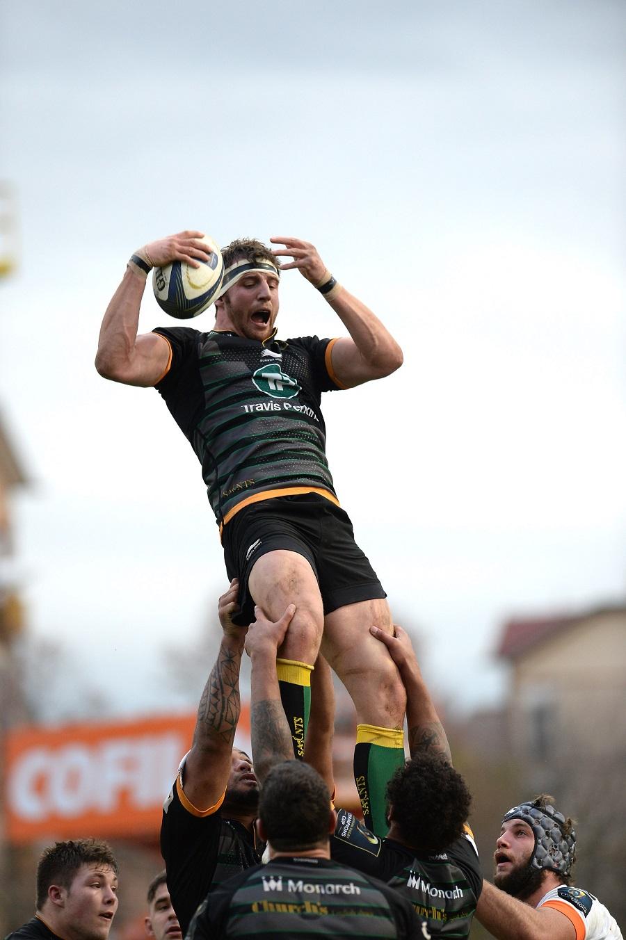 Northampton's Tom Wood rides high against Treviso