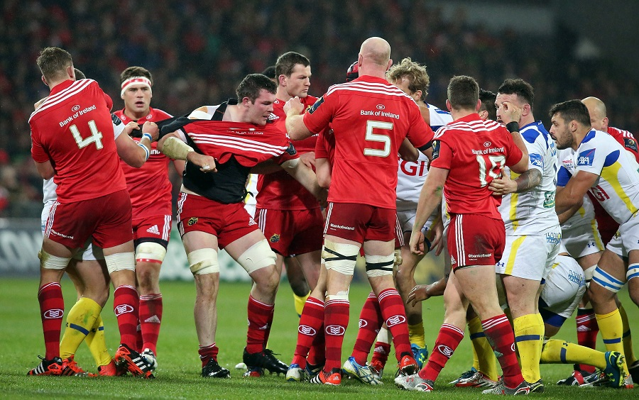 Munster and Clermont players get to know one another at Thomond Park