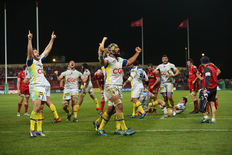 Clermont celebrate beating Munster