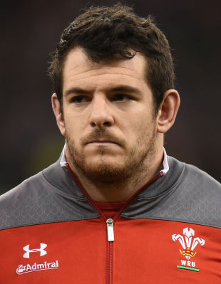 Aaron Jarvis lines up for the national anthem, Wales v South Africa, Autumn International, Millennium Stadium, Cardiff, November 29, 2014