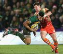 Northampton's Luther Burrell tries to break through