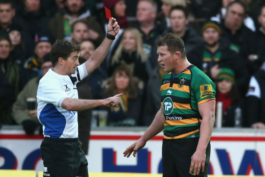 Dylan Hartley is sent off