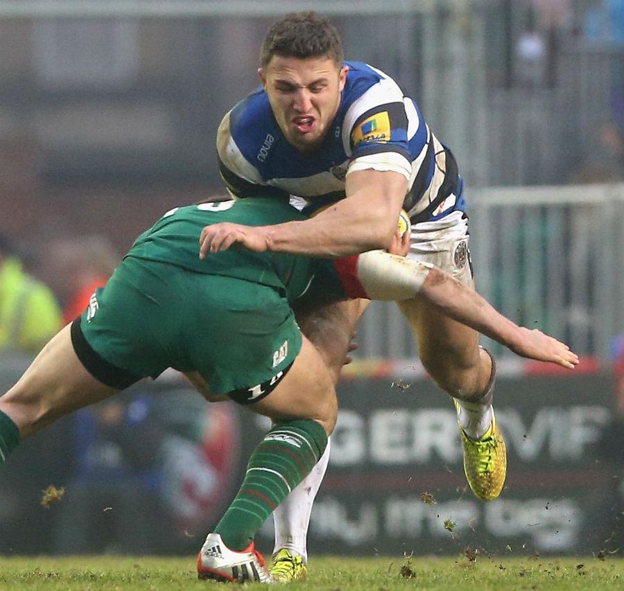 Bath's Sam Burgess Runs Into Owen Williams