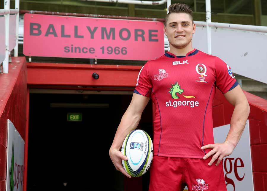 James O'Connor has faced the media for the first time as a Queensland Reds player