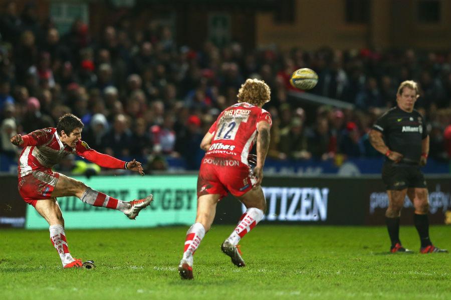 James Hook kicks the last-minute winning penalty