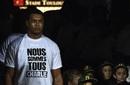 Thierry Dusautoir dons a 'nous sommes tous Charlie' t-shirt ahead of Toulouse's match against La Rochelle