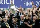 Warren Gatland's Wasps lift the Premiership trophy in 2005