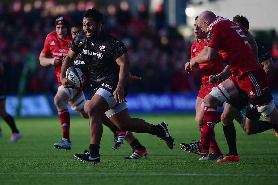 Billy Vunipola goes on the charge for Saracens