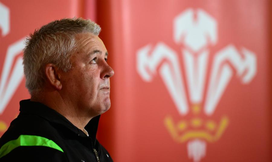 Wales' Warren Gatland fields questions from the media