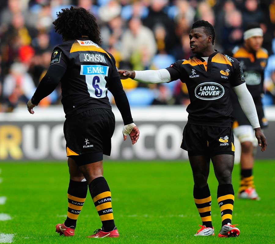 Wasps' Christian Wade consoles Ashley Johnson after he is sin-binned