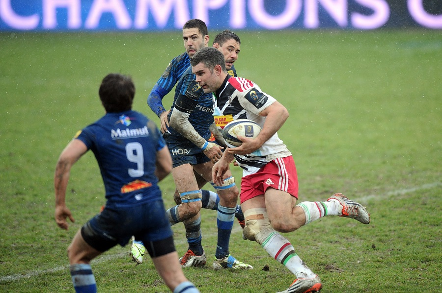 Nick Easter goes on the charge for Quins