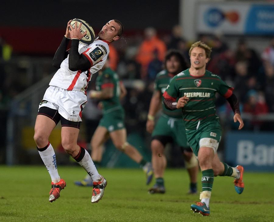 Ulster's Ruan Pienaar under the high ball