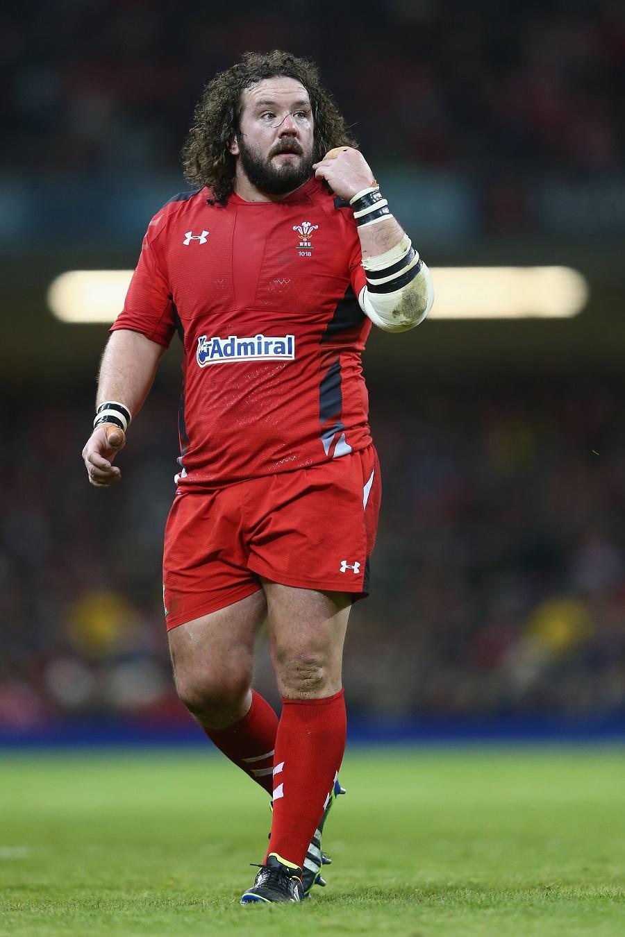 Adam Jones looks on for Wales