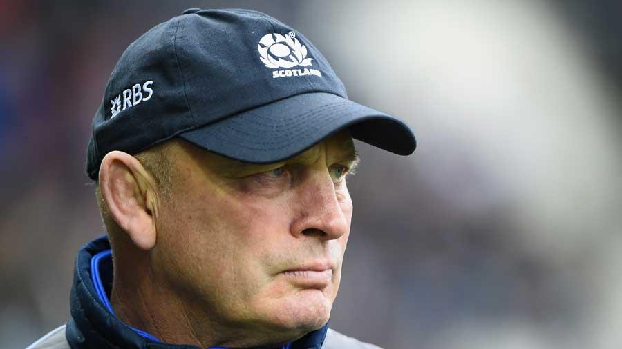 Scotland boss Vern Cotter looks on