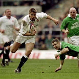 Ben Cohen goes past Kevin Maggs, England v Ireland, Six Nations, Twickenham, February 5, 2000